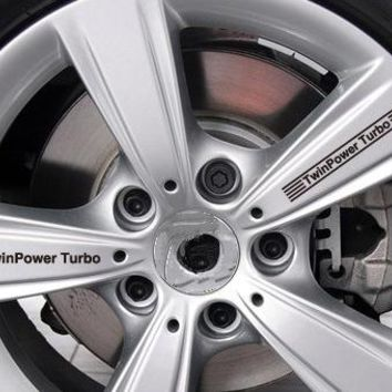 Aliauto Car-styling ///M TwinPower Turbo Car Rims Sticker and Decal Wheels Accessories for Bmw X1 X3 X4 X5 X6 M1 M2 M3 M5 M6