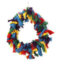 Bird Toy Large Cotton Ring Ropes Colorful Pet Bird Parrot Hammock Swing Toys Hanging Pet Products Bird Supplies