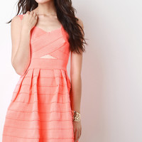 Scallop Cut Out Tier Dress