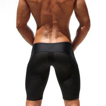 Meshed Workout Slim Fitted Shorts