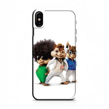 Alvin And The Chipmunks The Road Chip Movies 70s iPhone X Case