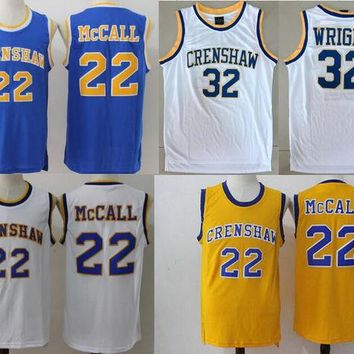 DCCKF4S Basketball Jersey McCall 22# 32# Movie Love and Basketball Jersey CRENSHAW Cool Basketball Jersey Shirts Street Basketball