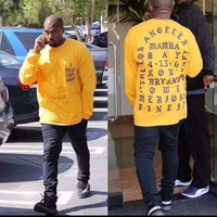 I Feel Like Kobe Mamba Day Pablo Kanye West MSG Long Sleeve T shirt GOLD Yeezy Weekend Life Of yeezus Freeshipping
