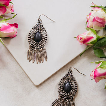 Hanging Feathers Earrings