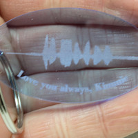 Personalized  Sound Wave Voice wave key chain Colored acrylic