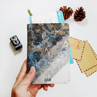 Marble Passport cover leather,passport holder,personalized passport cover,passport case,personalized gifts,monogram passport cover