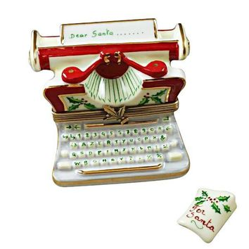 Christmas Typewritter Limoges Box