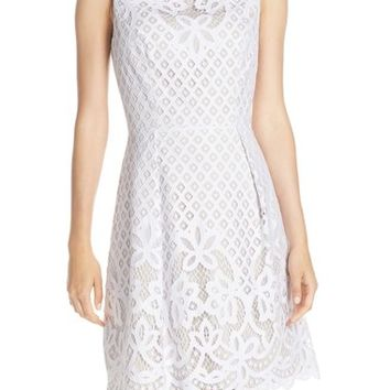 Adrianna Papell Lace Fit & Flare Dress (Regular & Petite) | Nordstrom