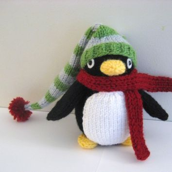 Amigurumi Pattern Knit Penguin Digital Download