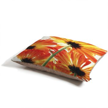 Shannon Clark Orange Daisies Pet Bed