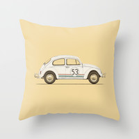 Famous Car #4 - VW Beetle Throw Pillow by Speakerine / Florent Bodart