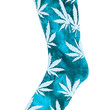 The Tie Dye Plantlife Socks in Aqua and Dark Teal