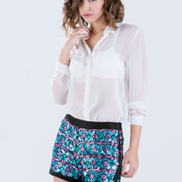 Sequin You Out Beaded Shorts GoJane.com