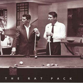The Rat Pack Playing Pool Poster 24x34