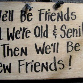 We'll be FRIENDS til we're old and SENILE then by trimblecrafts