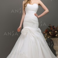 Aniia Trumpet Mermaid Sweetheart Organza Wedding Dress