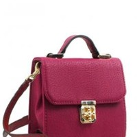 Audacious Statement Crossbody Accent Purse in Maroon | Sincerely Sweet Boutique