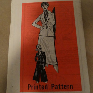 1970's Printed Pattern #9364, Suit, Jacket, Skirt, Culottes, Summer Time Fashion, Size 12