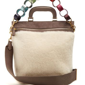 Orsett shearling and suede tote | Anya Hindmarch | MATCHESFASHION.COM US