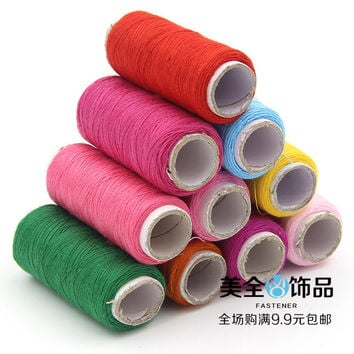 120m 33 colors fabric Polyester Sewing Thread For Hand & Machine DIY costura white black pink green blue purple yellow Z472