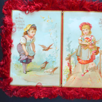 Victorian Fringe Greeting Card