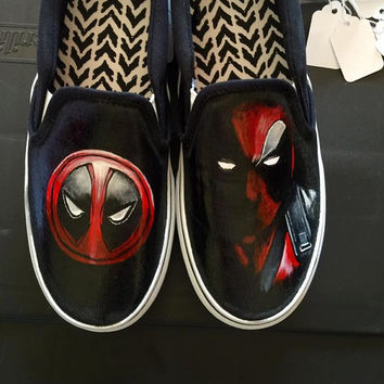 Deadpool Painted Shoes