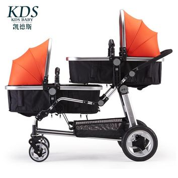 Twins Baby Stroller Double Front And Rear Folding