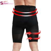 Men Control Boxer Panties Firm Slimming High Waist Trainer Bodysuit Contour Body Shaper Strong Shaping Slim Fit Underwear Shorts