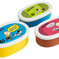 "Skater Peanuts ""Snoopy"" 65th Anniversary Assorted Food Containers, Set of 3"