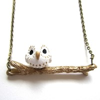 Supermarket: Barn Owl on a Branch Necklace from LB Yours