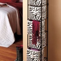 Animal Print Zebra 6 Bin Storage Unit with Bins - Perfect Teen Bedroom