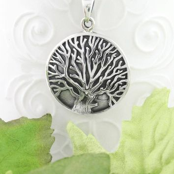 Strong Tree of Life Medallion Necklace