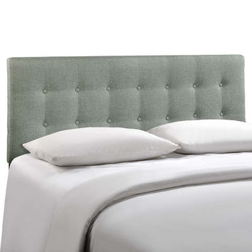 Gray Emily King Fabric Headboard