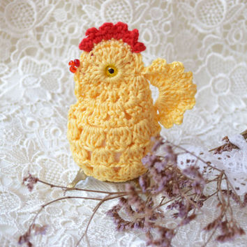 Easter crochet chicken cozy Yellow chicken egg warmer Easter decoration cozy egg cover chicks kitchen decor spring Easter gift Easter table