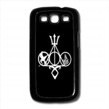 Harry Potter, Percy Jackson, Mortal Instruments, Hunger Games, and Divergent for samsung galaxy s3 case