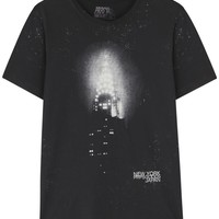 PRPS Goods Black Chrysler print cotton T-shirt
