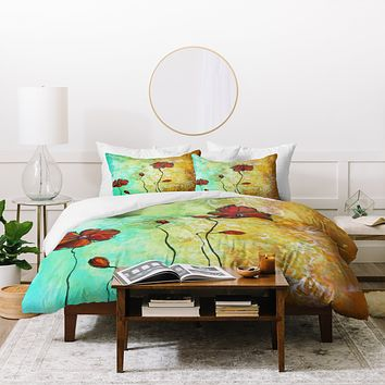 Madart Inc. Poppy Love Duvet Cover