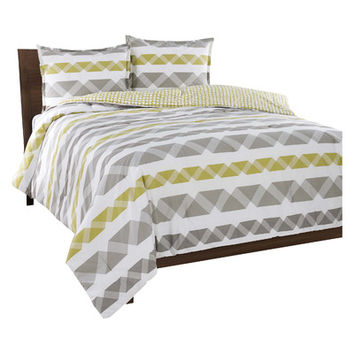City Scene Orgami Stripe Comforter Set & Reviews | Wayfair