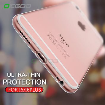 OICGOO Transparent Soft TPU Cover Case For iPhone 6 6 Plus 6s Plus Silicone Full Cover Back Case For iphone 6s plus Phone Cases