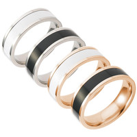 Jewelry New Arrival Shiny Gift Stylish Korean Couple Simple Design Titanium Club Ring [10059712131]