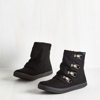 Urban Hustle and Buckle Bootie in Black by Blowfish from ModCloth