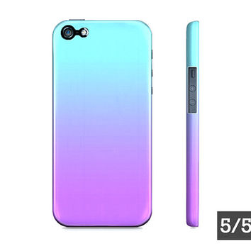 Purple & Blue Ombre - Premium Slim Fit iPhone 5 5S 4 4S - Apple iPhone Hard Case - Also Available For Samsung Galaxy S5 S4 S3