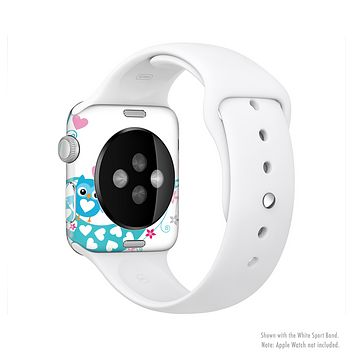 The Pink & Blue Vector Love Birds Full-Body Skin Set for the Apple Watch