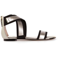 Stuart Weitzman Cross-Over Strap Sandal