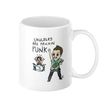Ukuleles are frickin punk Coffee Mug