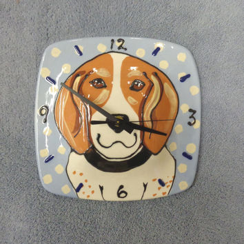 Beagle Time Ceramic Beagle Wall Clock