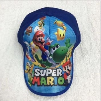 Trendy Winter Jacket 1pcs Super Mario Fashion Sun Hat Mario Casual Cosplay Baseball Cap Child gift AT_92_12
