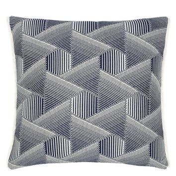 Designers Guild Delray Outdoor Indigo Decorative Pillow