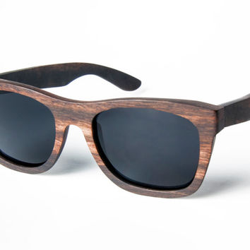 Wooden Sunglasses, handmade stained sunglasses, Maple Wood Sunglasses, Wood Eyewear Wayfarers, Hand Made from Recycled Wood, Woodgrain Wood