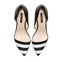 BLACK AND WHITE COMBINATION HEELS - High - heels - Shoes - Woman | ZARA United States